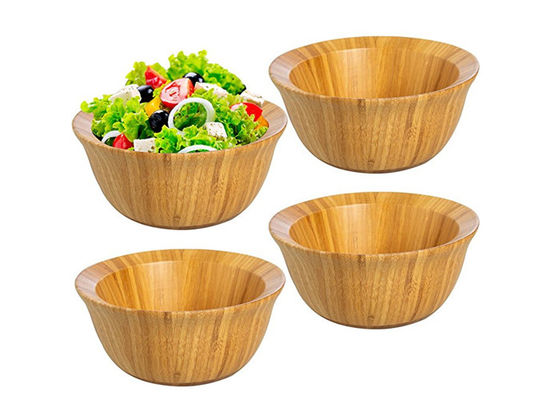 Good Quality Bamboo Kitchen Supplies & Set of Four FDA Approval Large Organic Bamboo Salad Set Wholesale on sale