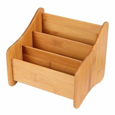 Good Quality Bamboo Kitchen Supplies & Small Bamboo Office Supplies Wood Desk Organizer Storage Holder For Pen on sale