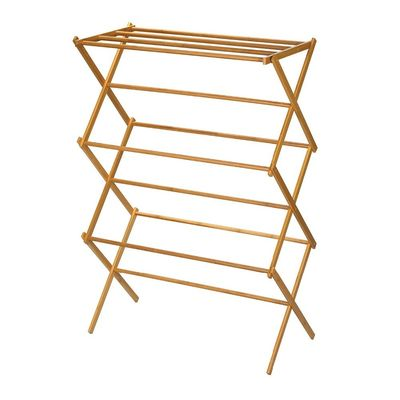 Good Quality Bamboo Kitchen Supplies & Portable Wooden Laundry Drying Rack , Bamboo Clothes Rack Earth Friendly on sale