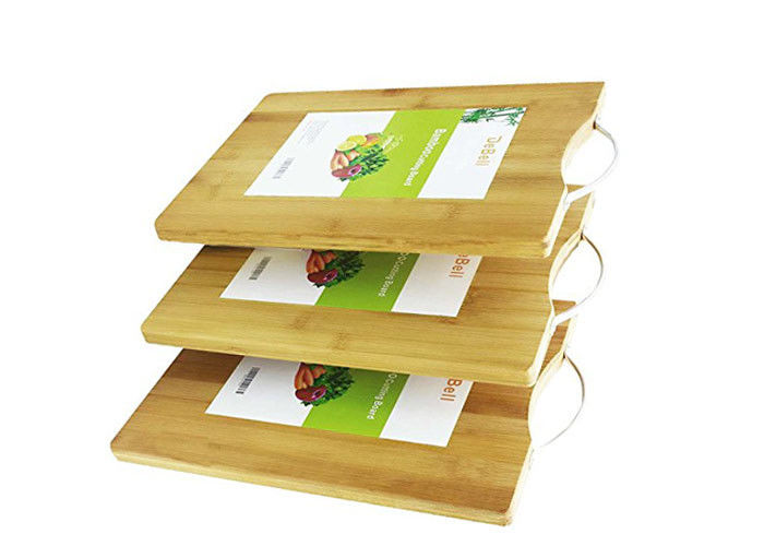 Professional Bamboo Kitchen Supplies Cherry Wood Bamboo Chopping Board Set 3 Piece
