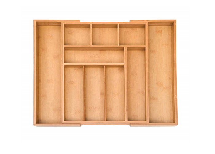 Complex Expandable Natrual Bamboo Storage Drawer Organizer Set