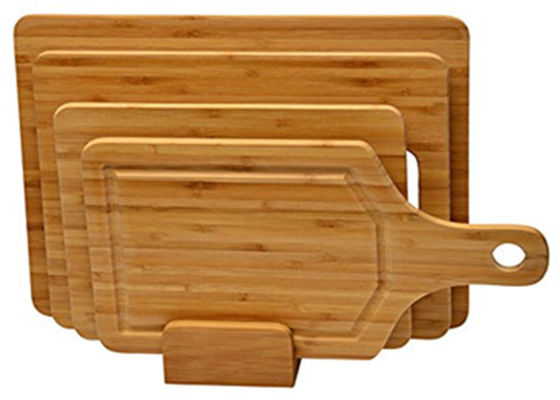 Bamboo Cutting Board Set: (3) Small Medium & Large with handle and special shape bamboo chopping board set