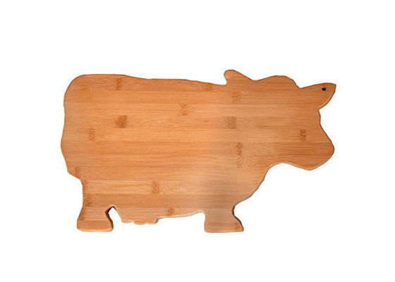 Custom Bamboo Fun Animal Shaped Cutting board with Shrink Wrap Packing