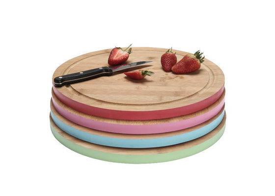 Promotional Small Bamboo Cutting Board , Thick Wooden Chopping Board Antibacterial