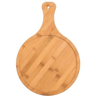 Non - Fragile Bamboo Pizza Board Food Serving Board 100% Food Standard
