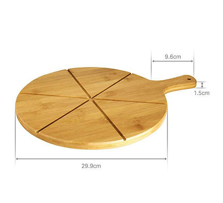Portable Natural Wooden Pizza Cutting Board No Petrochemicals No Varnishes