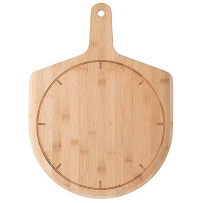 Heat Resistant Round Wooden Pizza Board , Bamboo Pizza Peel Serving Board