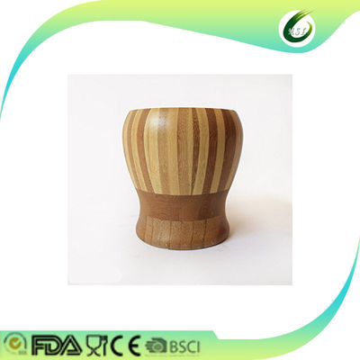 Customized Size Bamboo Garlic Pounder Press 2-50mm Thickness Antique Style